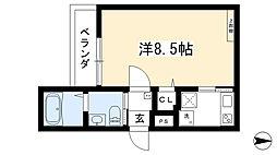 (仮称)西院六反田町共同住宅II 4階1Kの間取り