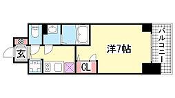 エスリード神戸三宮ラグジェ[11階]の間取り