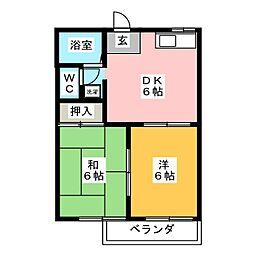 アベニュー岩倉[2階]の間取り