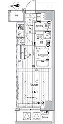 JR総武本線 錦糸町駅 徒歩12分の賃貸マンション 2階1Kの間取り