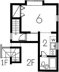 野方アパート[2階]の間取り