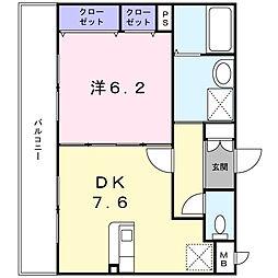 ノース・コート[2階]の間取り