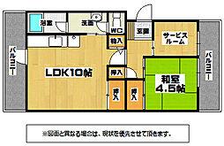 平野グリーンマンション[5階]の間取り