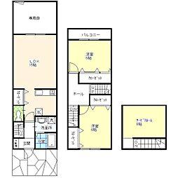 [テラスハウス] 東京都葛飾区西新小岩3丁目 の賃貸【/】の間取り