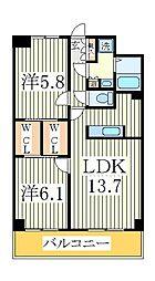 アーバニタ[5階]の間取り