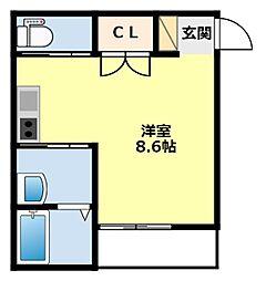 愛知県豊田市月見町3丁目の賃貸アパートの間取り