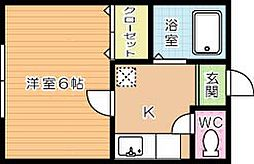 MOON朝日ヶ丘B棟[202号室]の間取り