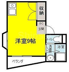 大阪府堺市堺区出島海岸通3丁の賃貸マンションの間取り