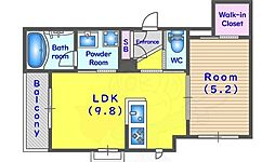 JR東海道・山陽本線 桂川駅 徒歩3分の賃貸アパート 2階1LDKの間取り