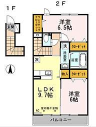 神奈川県横浜市旭区今川町の賃貸アパートの間取り