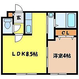 北海道札幌市西区山の手二条1丁目の賃貸マンションの間取り