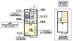 ソシエ[2階]の間取り