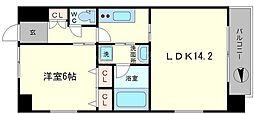 S-RESIDENCE淀屋橋[14階]の間取り