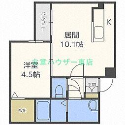 北海道札幌市東区北二十四条東13の賃貸マンションの間取り