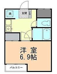 レイクトップ鶴川[3階]の間取り