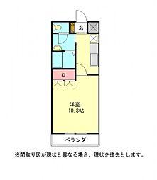 愛知県一宮市赤見4丁目の賃貸アパートの間取り