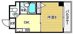 プレステージ堂島[501号室]の間取り