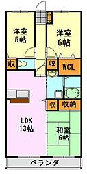 ヒロ末広[2階]の間取り