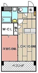 エラン黒崎[302号室]の間取り