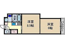 学生会館GrandEterna大阪[2階]の間取り