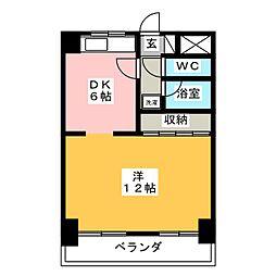 ダイアパレス葵[8階]の間取り