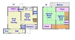 [一戸建] 兵庫県神戸市垂水区五色山4丁目 の賃貸【兵庫県 / 神戸市垂水区】の間取り