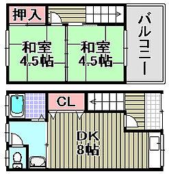 [タウンハウス] 大阪府泉南市新家 の賃貸【/】の間取り