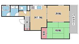 兵庫県神戸市灘区篠原中町5丁目の賃貸アパートの間取り