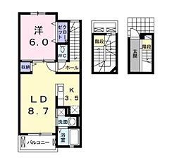 K−アイリス[3階]の間取り