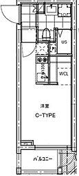 B CITY APARTMENT TACHIKAWA[107号室号室]の間取り