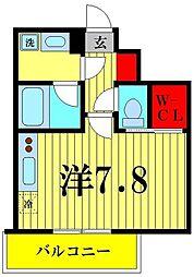 ヴェルメリオ本所 4階1Kの間取り