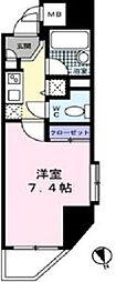 東京都港区新橋4丁目の賃貸マンションの間取り