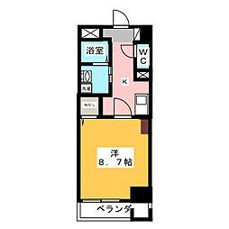 カスタリア新栄2[8階]の間取り