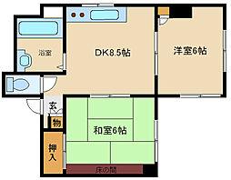 立花サンライズマンション[3階]の間取り