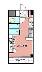 サンシティ大畠[208号室]の間取り
