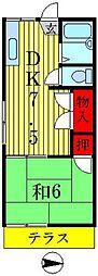 エクセラピエース新松戸A棟[1階]の間取り