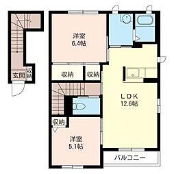 メゾン アヴァンセ[2階]の間取り