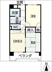 サンファミリー鈴木[4階]の間取り