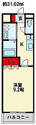 ソレイユ西本町[1階]の間取り