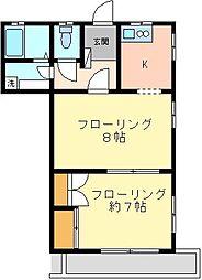 西方邸[2階号室]の間取り
