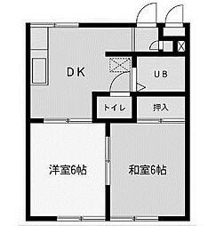 メゾンラメール[3階]の間取り