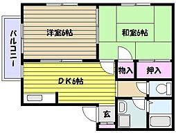 兵庫県神戸市東灘区住吉東町3丁目の賃貸アパートの間取り