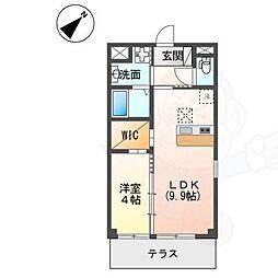 (仮称)吹田市岸部南2丁目 新築マンション 1階1LDKの間取り