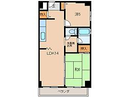 マンションポローニア[1階]の間取り
