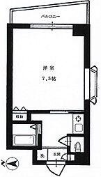 恵比寿MSビル 5階1Kの間取り