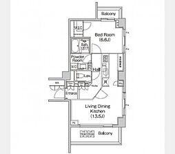 東急東横線 代官山駅 徒歩2分の賃貸マンション 2階1LDKの間取り