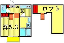 ブレッツァ北松戸[202号室]の間取り