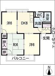 ホープハウス城屋敷[2階]の間取り