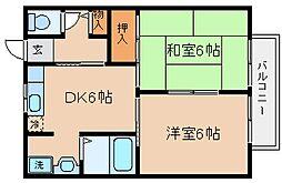兵庫県神戸市兵庫区大開通6丁目の賃貸アパートの間取り