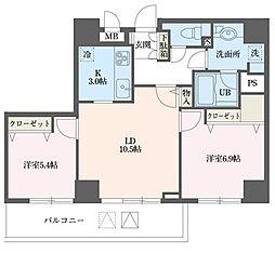 ドゥーエ横浜駅前[0401号室]の間取り